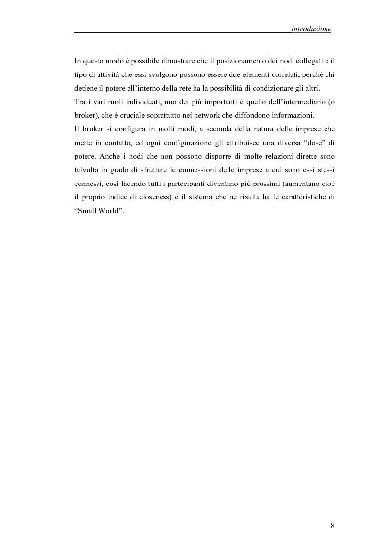 Anteprima della tesi: Applicazione di temi di analisi dei network alle filiere innovative, Pagina 8