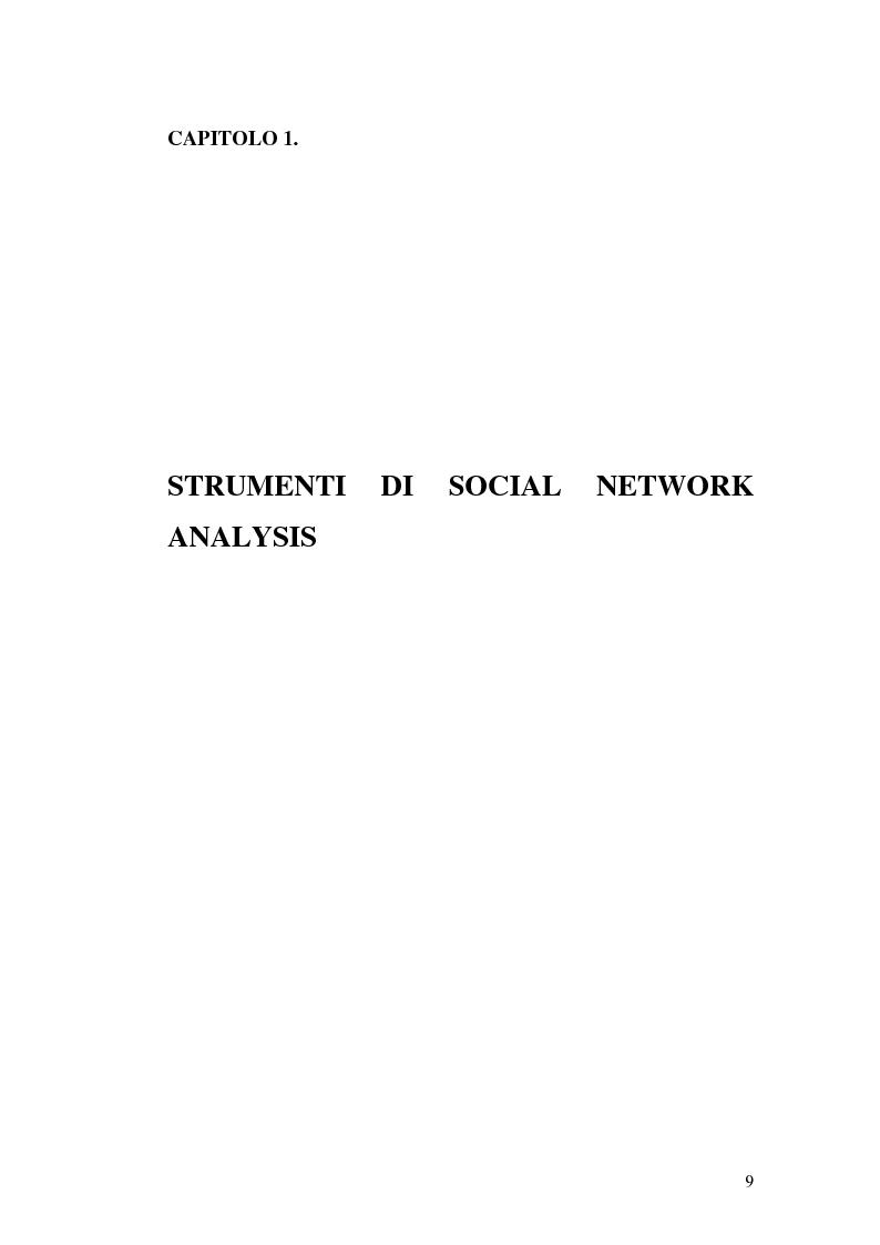 Anteprima della tesi: Applicazione di temi di analisi dei network alle filiere innovative, Pagina 9