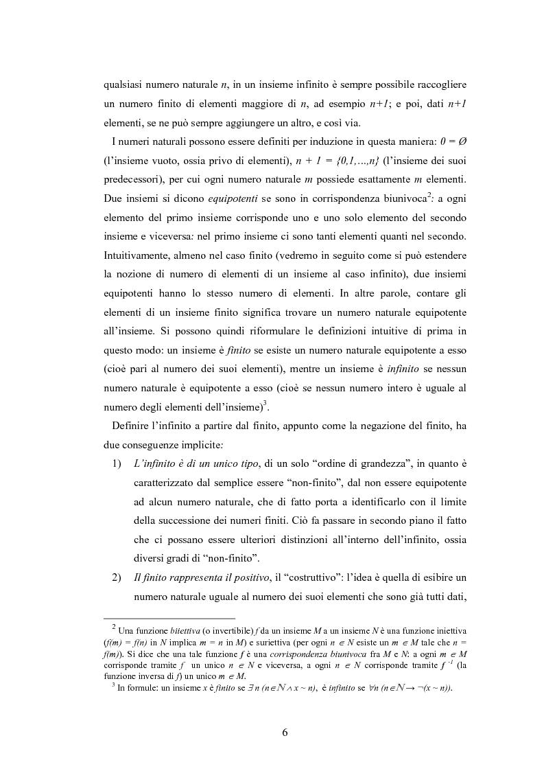Anteprima della tesi: Il concetto di infinito nella teoria assiomatica degli insiemi, Pagina 5