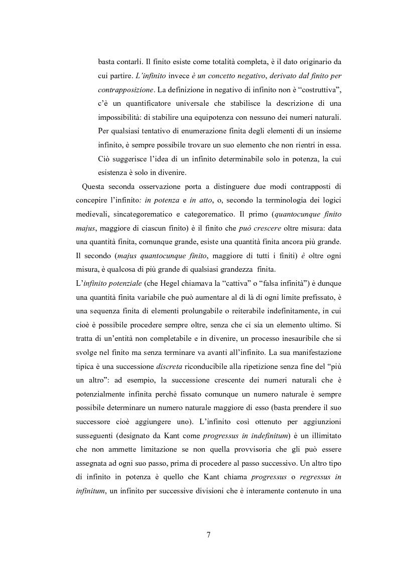 Anteprima della tesi: Il concetto di infinito nella teoria assiomatica degli insiemi, Pagina 6