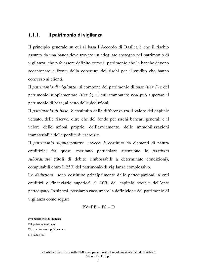 Anteprima della tesi: I confidi come risorsa per le piccole e medie imprese che adottano il regolamento dettato da Basilea 2, Pagina 1