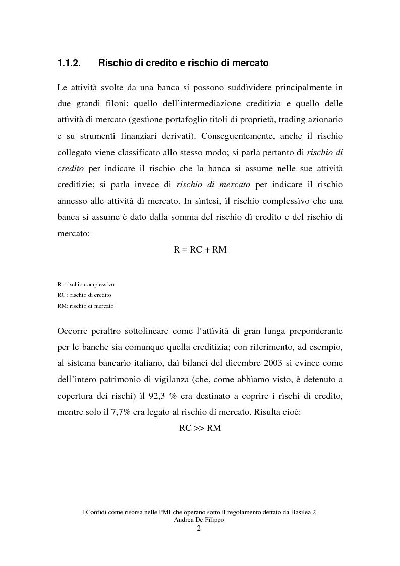 Anteprima della tesi: I confidi come risorsa per le piccole e medie imprese che adottano il regolamento dettato da Basilea 2, Pagina 2