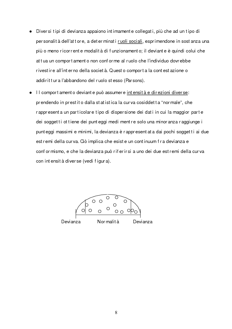 Anteprima della tesi: Il percorso evolutivo del concetto di devianza, Pagina 4