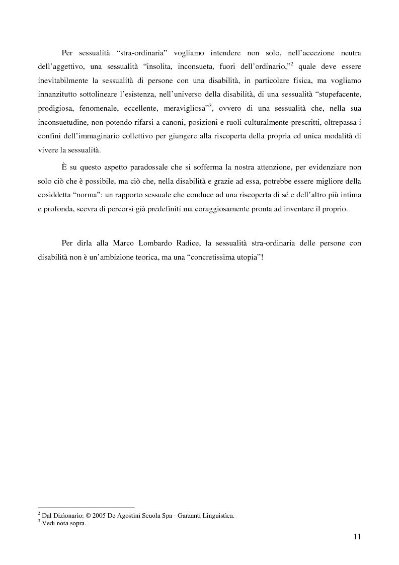 Anteprima della tesi: La ''stra-ordinarietà'' sessuale delle persone con disabilità, Pagina 4