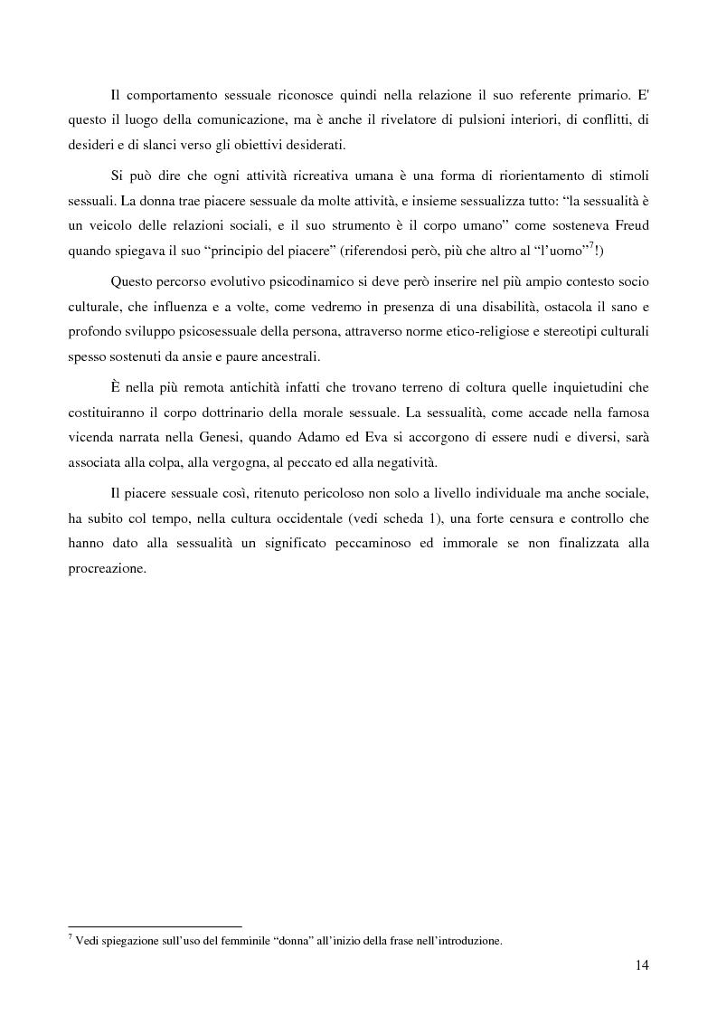 Anteprima della tesi: La ''stra-ordinarietà'' sessuale delle persone con disabilità, Pagina 7