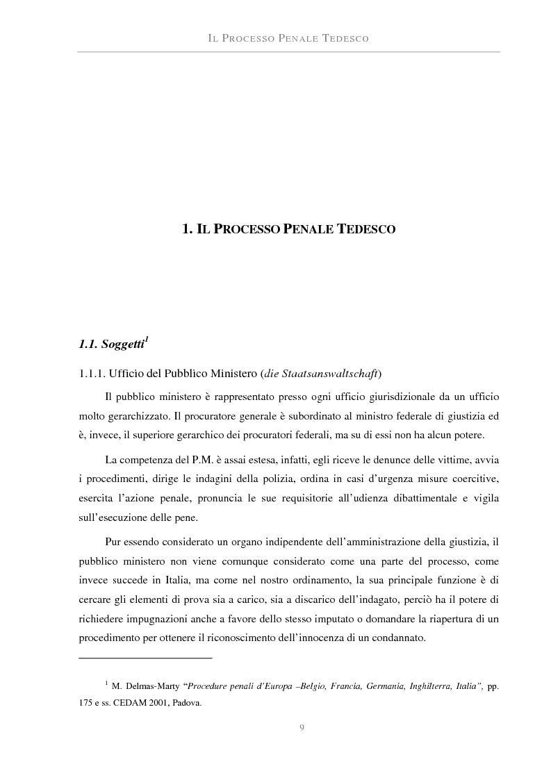 Anteprima della tesi: La perizia nel processo penale tedesco ed italiano. Una prova atipica: le fibre, Pagina 4