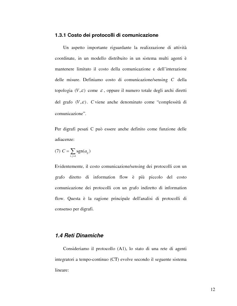 Anteprima della tesi: Strategie di consenso per il filtraggio, la fusione e la stima dei parametri in Reti di Agenti, Pagina 10