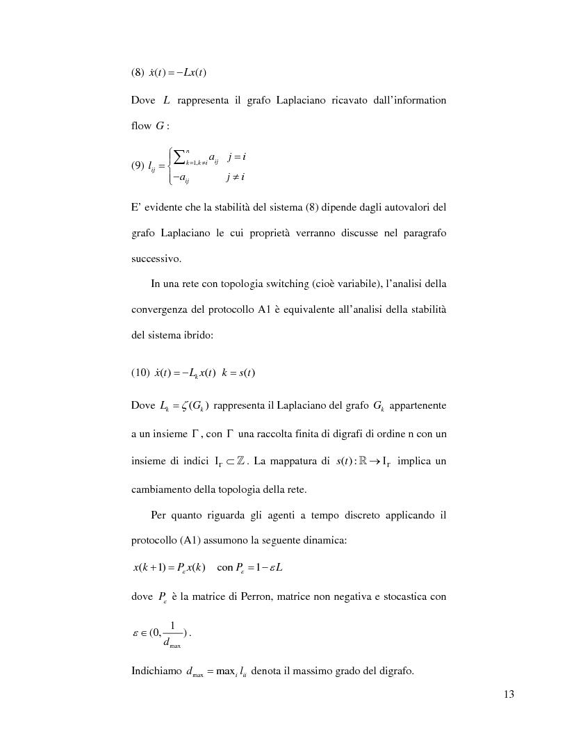 Anteprima della tesi: Strategie di consenso per il filtraggio, la fusione e la stima dei parametri in Reti di Agenti, Pagina 11