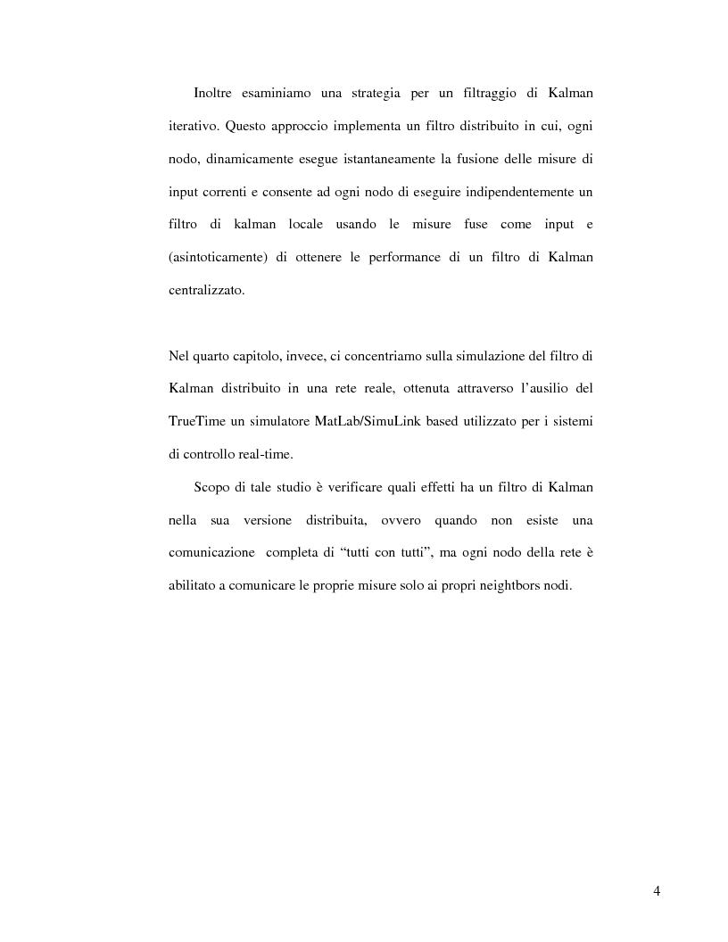 Anteprima della tesi: Strategie di consenso per il filtraggio, la fusione e la stima dei parametri in Reti di Agenti, Pagina 2