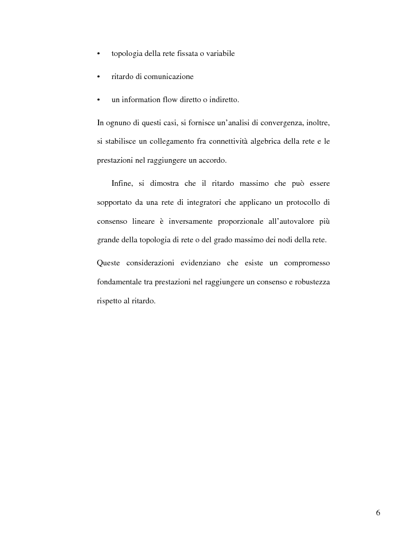 Anteprima della tesi: Strategie di consenso per il filtraggio, la fusione e la stima dei parametri in Reti di Agenti, Pagina 4