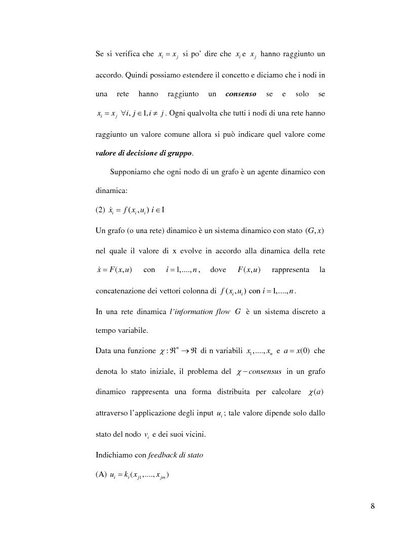 Anteprima della tesi: Strategie di consenso per il filtraggio, la fusione e la stima dei parametri in Reti di Agenti, Pagina 6