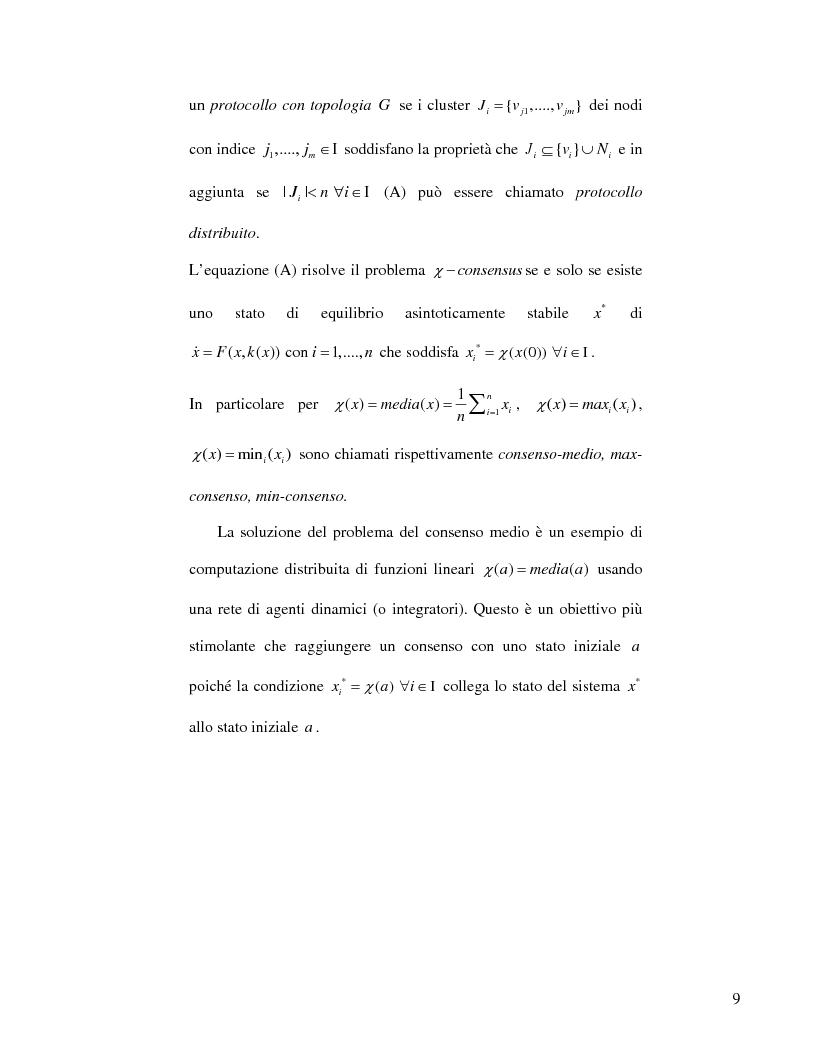 Anteprima della tesi: Strategie di consenso per il filtraggio, la fusione e la stima dei parametri in Reti di Agenti, Pagina 7