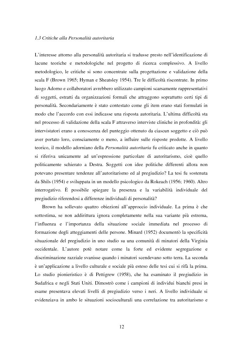 Anteprima della tesi: Fede musulmana e pregiudizio nel bellunese, il ruolo dell'orientamento religioso, delle variabili di personalità e delle emozioni, Pagina 10