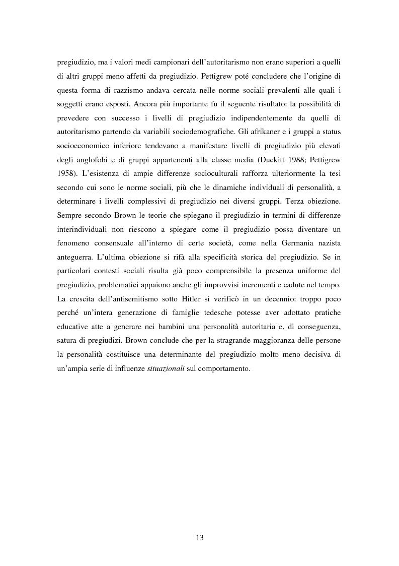 Anteprima della tesi: Fede musulmana e pregiudizio nel bellunese, il ruolo dell'orientamento religioso, delle variabili di personalità e delle emozioni, Pagina 11