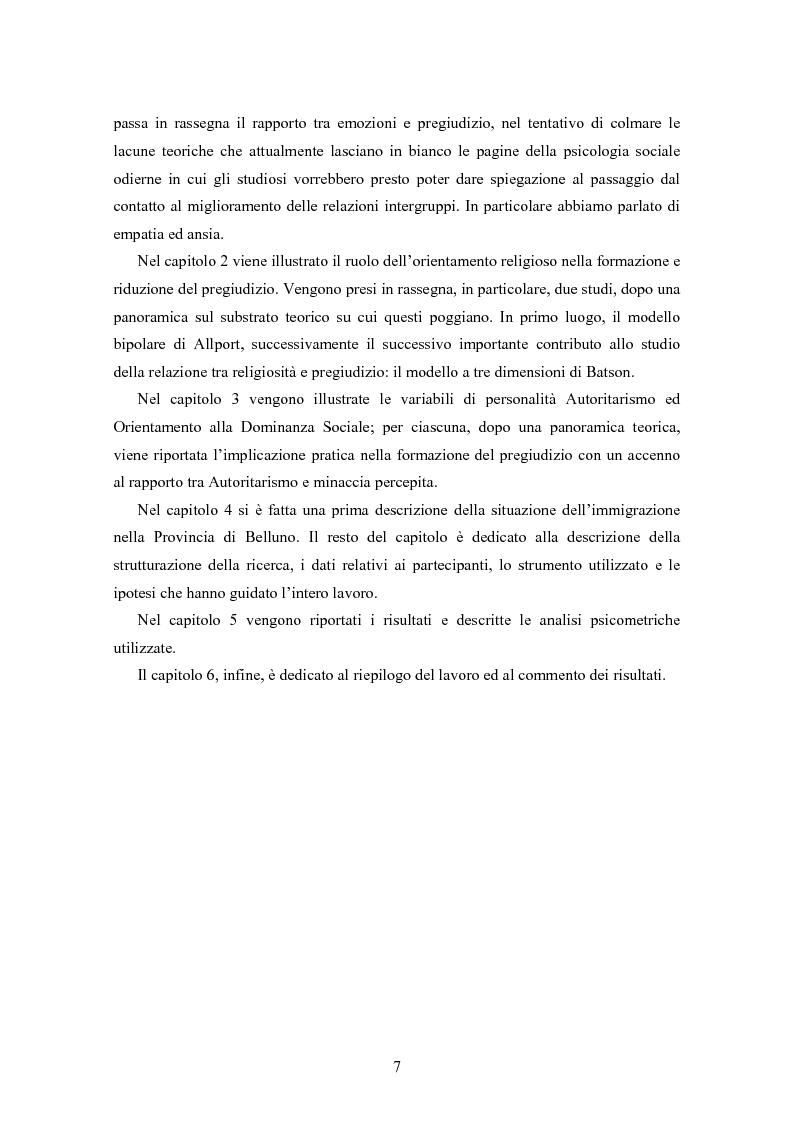 Anteprima della tesi: Fede musulmana e pregiudizio nel bellunese, il ruolo dell'orientamento religioso, delle variabili di personalità e delle emozioni, Pagina 5