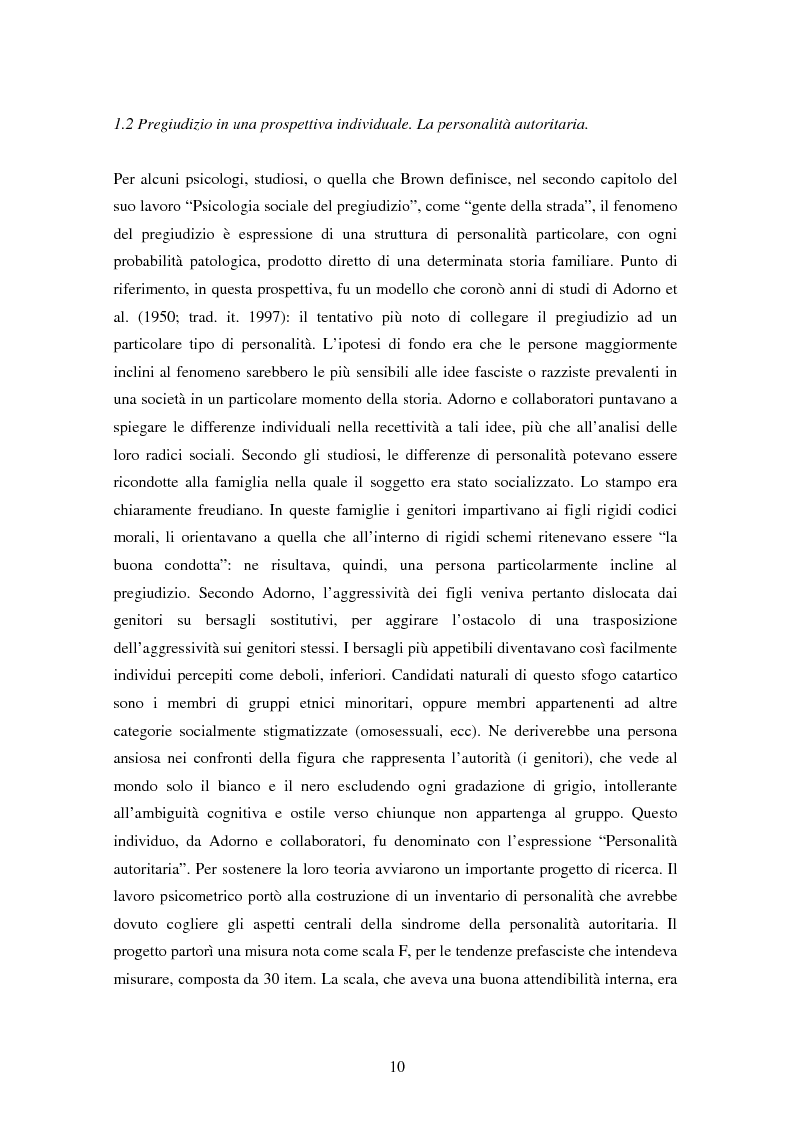 Anteprima della tesi: Fede musulmana e pregiudizio nel bellunese, il ruolo dell'orientamento religioso, delle variabili di personalità e delle emozioni, Pagina 8