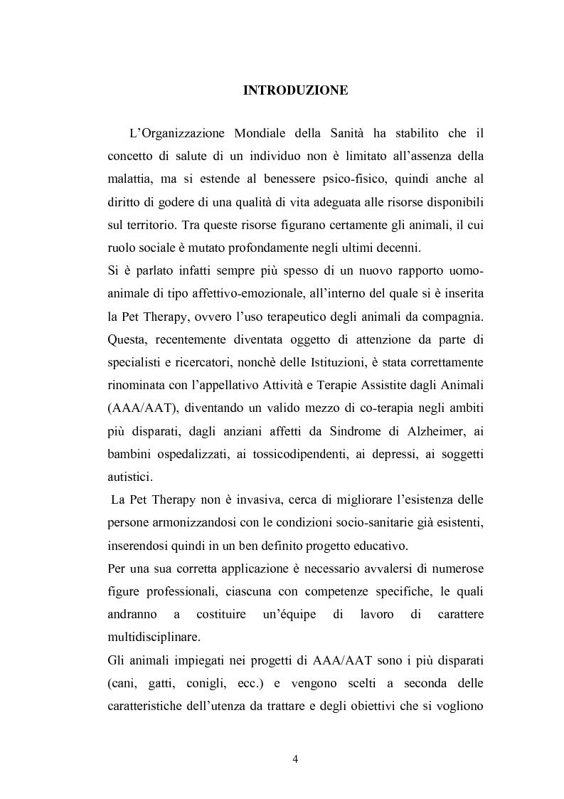 Anteprima della tesi: Il cane come co-terapeuta nell'autismo, Pagina 1