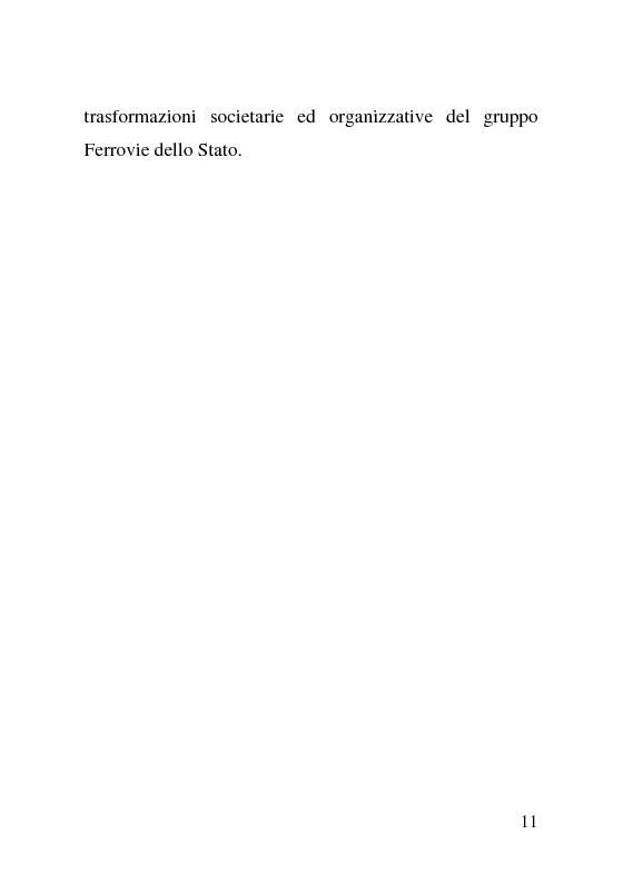 Anteprima della tesi: L'impatto delle politiche europee sulla riorganizzazione delle ferrovie italiane, Pagina 11