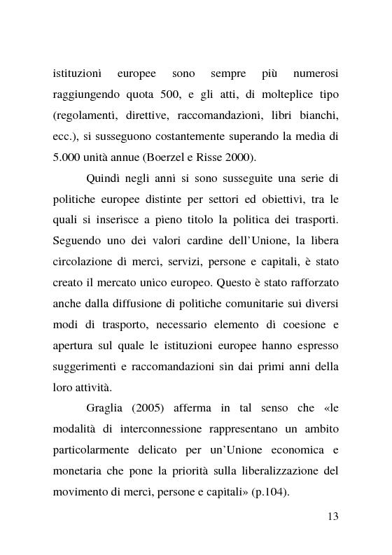Anteprima della tesi: L'impatto delle politiche europee sulla riorganizzazione delle ferrovie italiane, Pagina 13