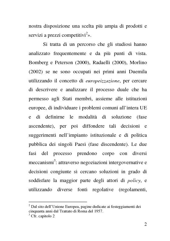 Anteprima della tesi: L'impatto delle politiche europee sulla riorganizzazione delle ferrovie italiane, Pagina 2