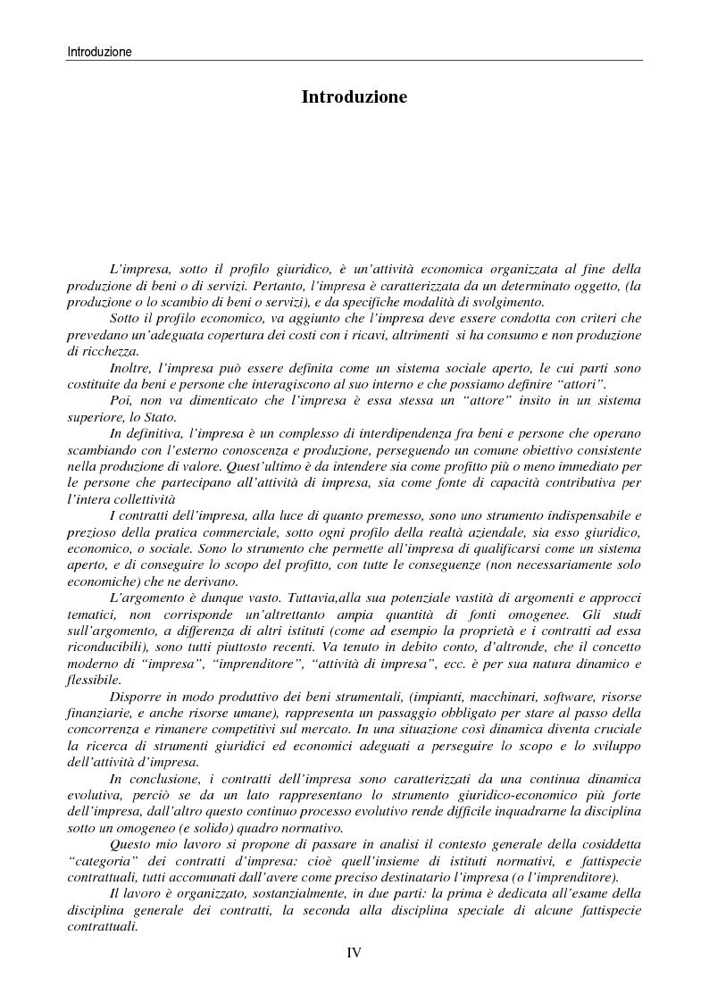 Anteprima della tesi: I contratti delle imprese. Profili giuridici contabili e fiscali., Pagina 1