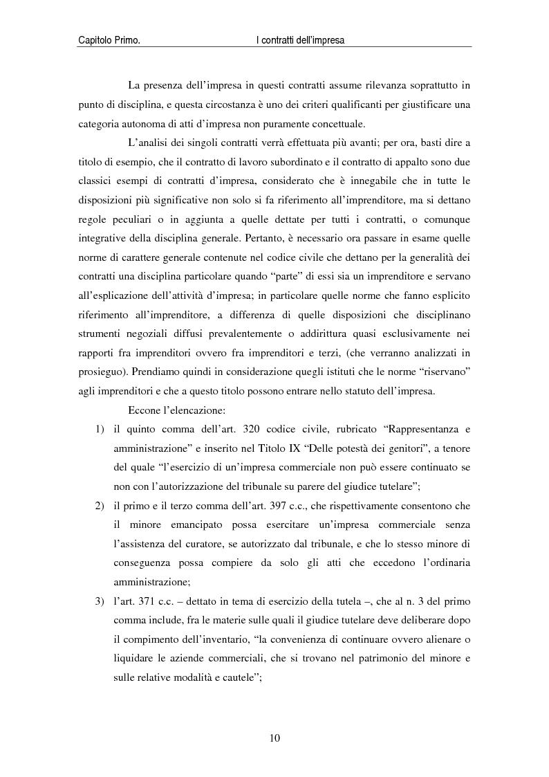 Anteprima della tesi: I contratti delle imprese. Profili giuridici contabili e fiscali., Pagina 12