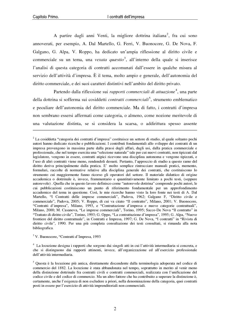 Anteprima della tesi: I contratti delle imprese. Profili giuridici contabili e fiscali., Pagina 4