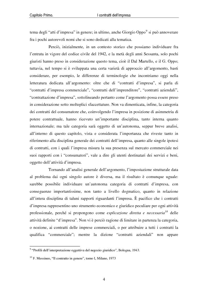 Anteprima della tesi: I contratti delle imprese. Profili giuridici contabili e fiscali., Pagina 6