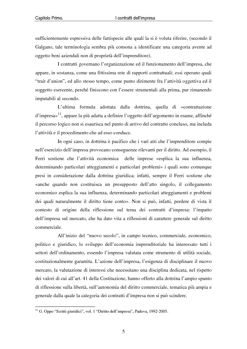 Anteprima della tesi: I contratti delle imprese. Profili giuridici contabili e fiscali., Pagina 7
