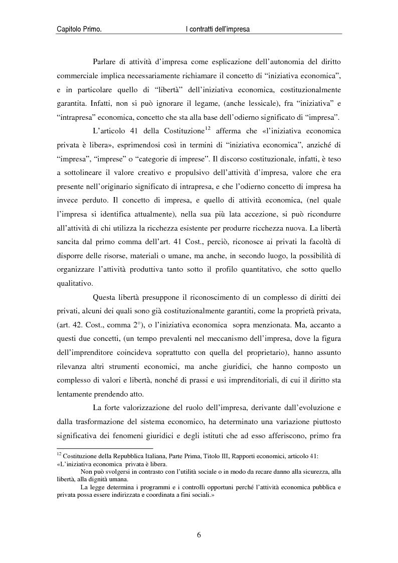 Anteprima della tesi: I contratti delle imprese. Profili giuridici contabili e fiscali., Pagina 8