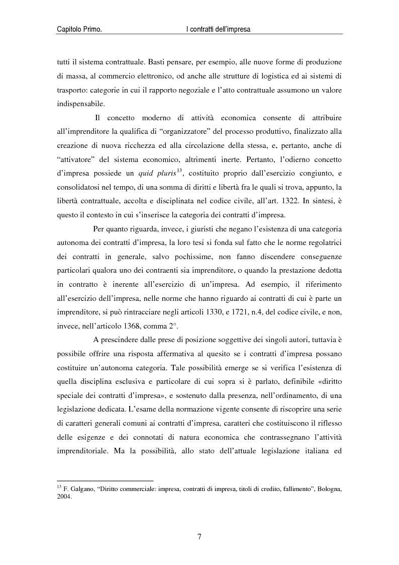 Anteprima della tesi: I contratti delle imprese. Profili giuridici contabili e fiscali., Pagina 9