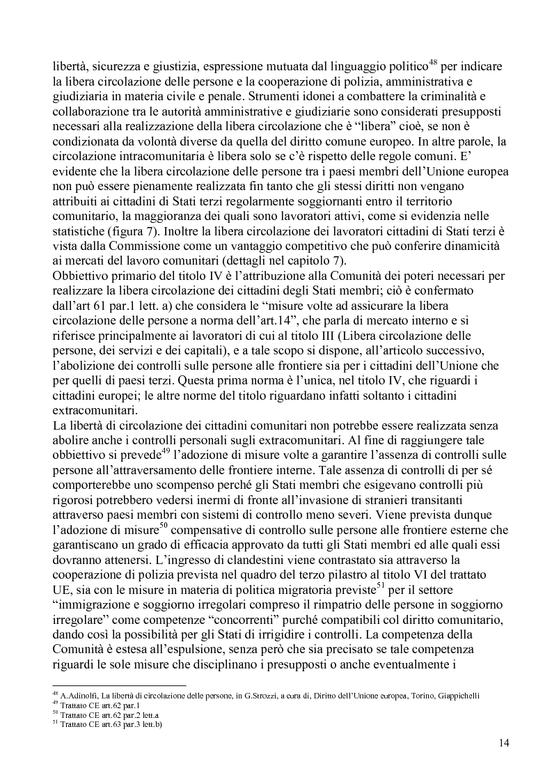 Anteprima della tesi: La politica comunitaria in materia di lavoro degli extracomunitari, Pagina 11