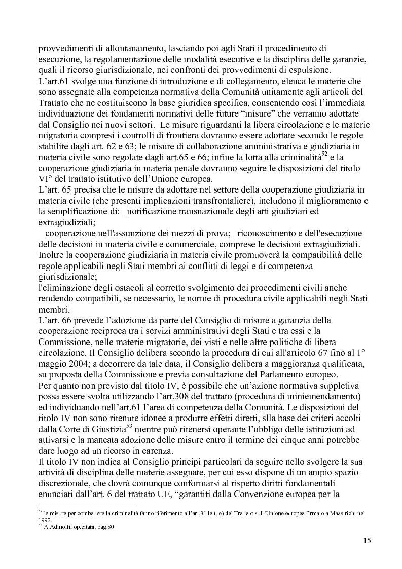 Anteprima della tesi: La politica comunitaria in materia di lavoro degli extracomunitari, Pagina 12