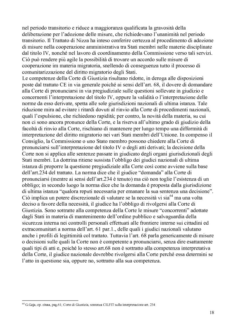 Anteprima della tesi: La politica comunitaria in materia di lavoro degli extracomunitari, Pagina 15