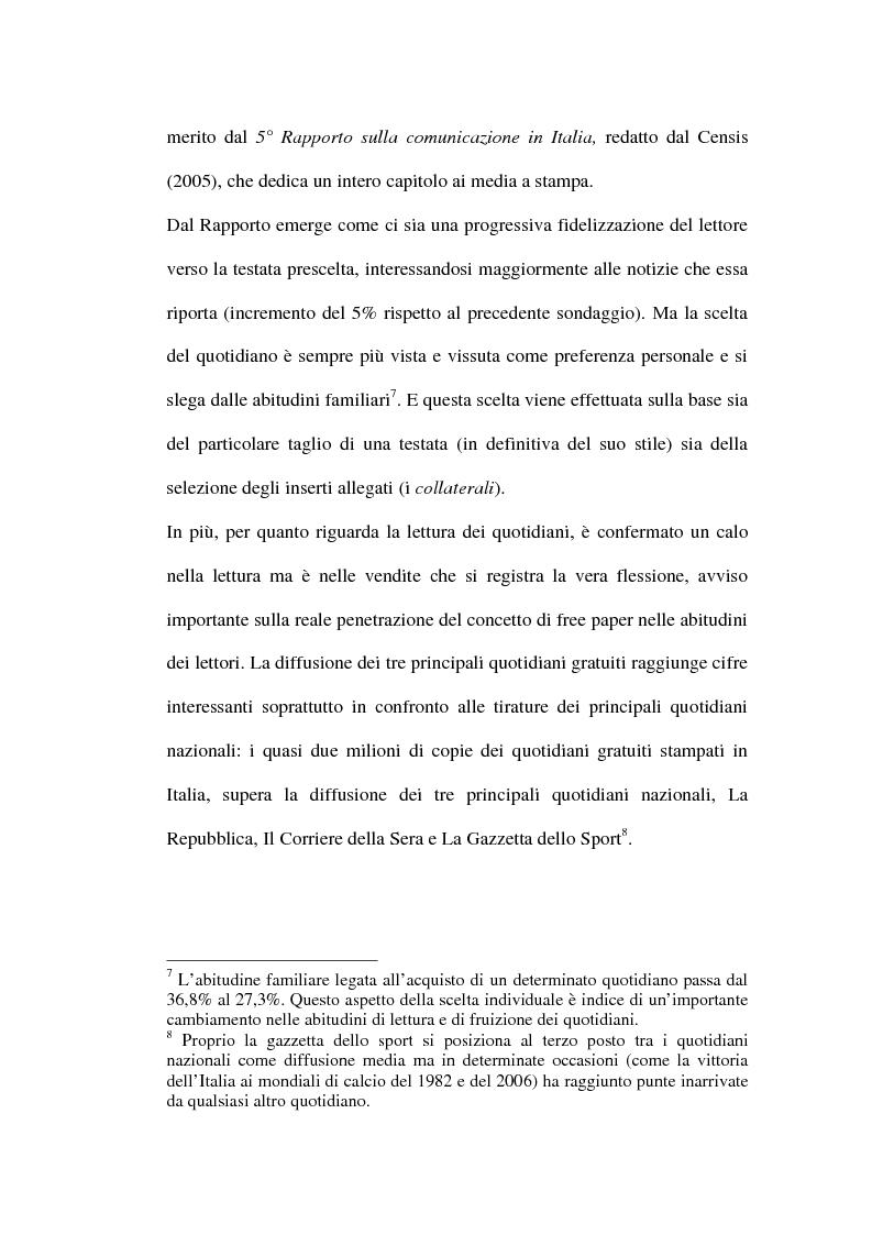 Anteprima della tesi: Le riviste periodiche a distribuzione gratuita, Pagina 10