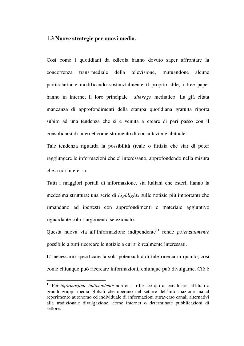 Anteprima della tesi: Le riviste periodiche a distribuzione gratuita, Pagina 14