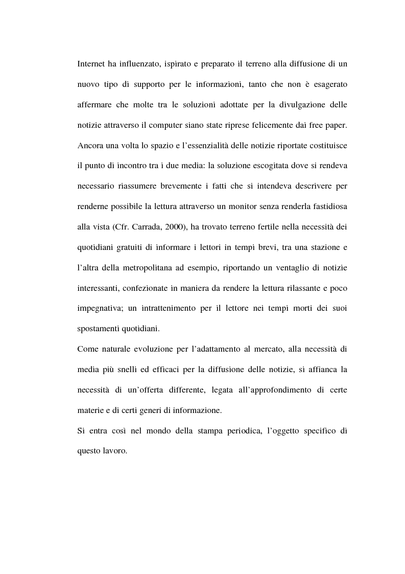 Anteprima della tesi: Le riviste periodiche a distribuzione gratuita, Pagina 16