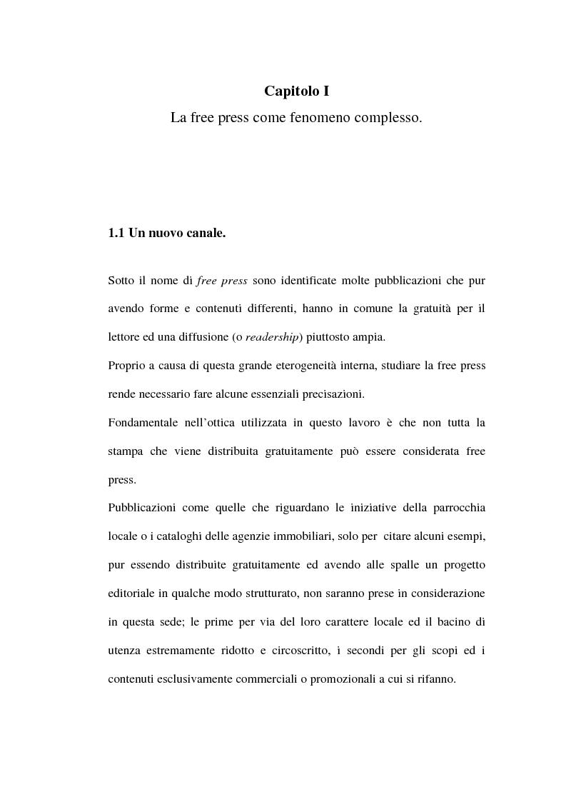 Anteprima della tesi: Le riviste periodiche a distribuzione gratuita, Pagina 4