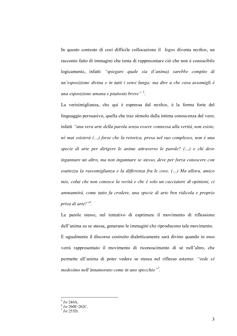 Anteprima della tesi: Forma dialogica e dialettica nel Fedro, Pagina 3