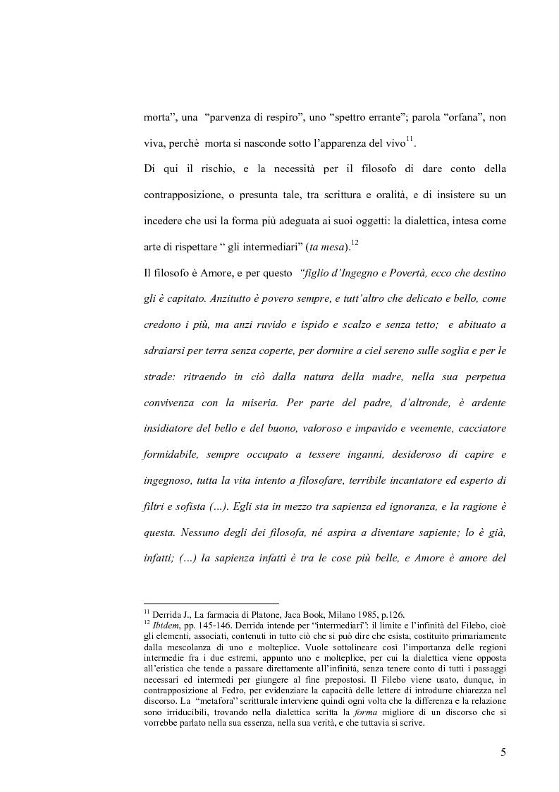 Anteprima della tesi: Forma dialogica e dialettica nel Fedro, Pagina 5