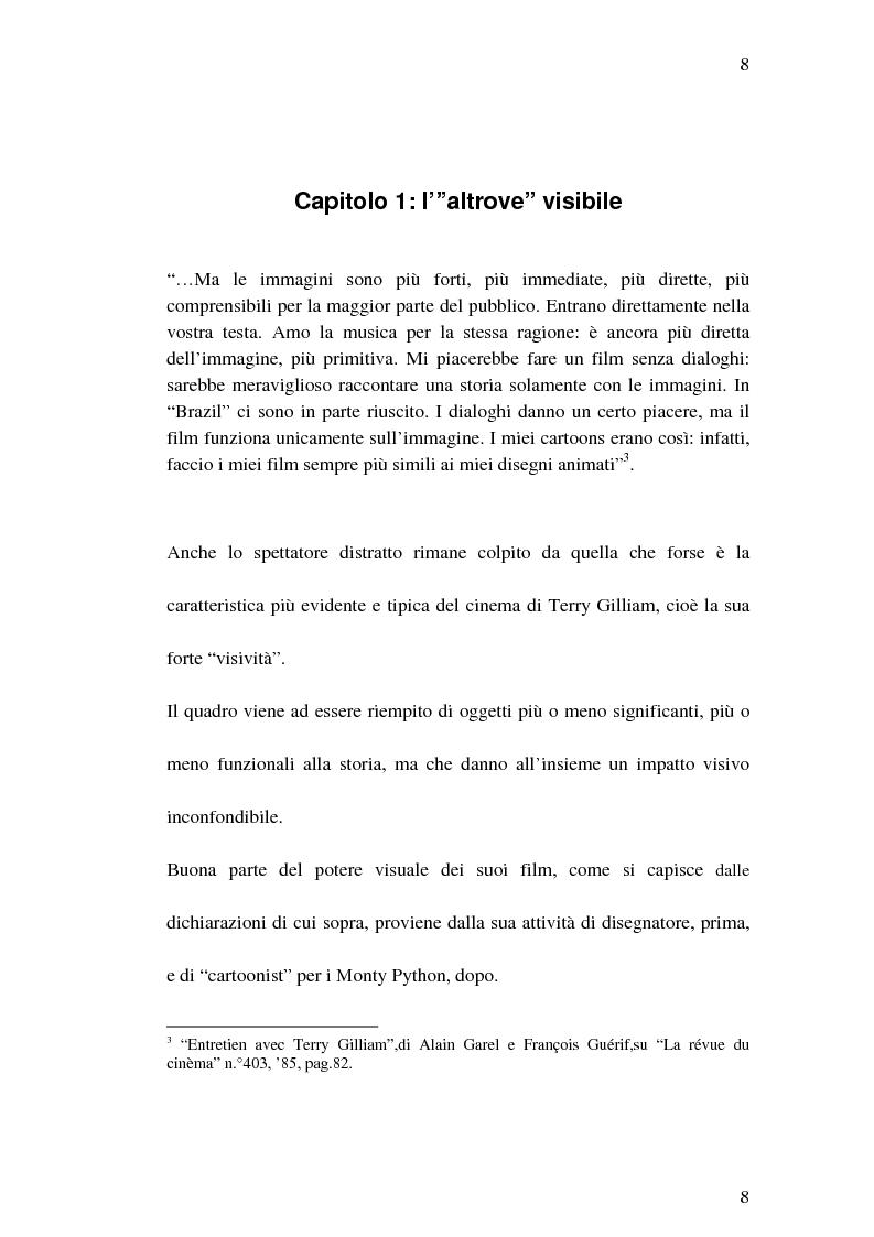 """Anteprima della tesi: Il cinema di Terry Gilliam: isotopie dell' """"altrove"""" e analisi di """"Brazil"""", Pagina 7"""