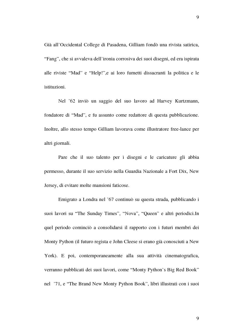 """Anteprima della tesi: Il cinema di Terry Gilliam: isotopie dell' """"altrove"""" e analisi di """"Brazil"""", Pagina 8"""
