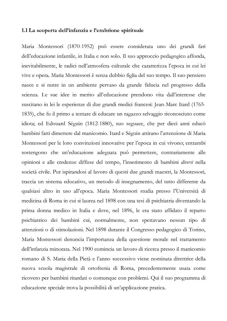 Anteprima della tesi: L'educazione del cuore nel pensiero pedagogico di Maria Montessori, Pagina 4