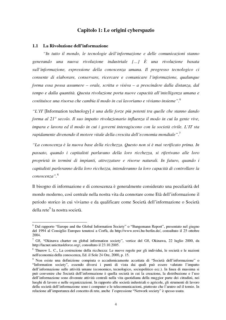 Anteprima della tesi: La sicurezza del cyberspazio: analisi e considerazioni, Pagina 4