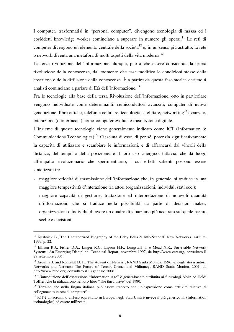 Anteprima della tesi: La sicurezza del cyberspazio: analisi e considerazioni, Pagina 6