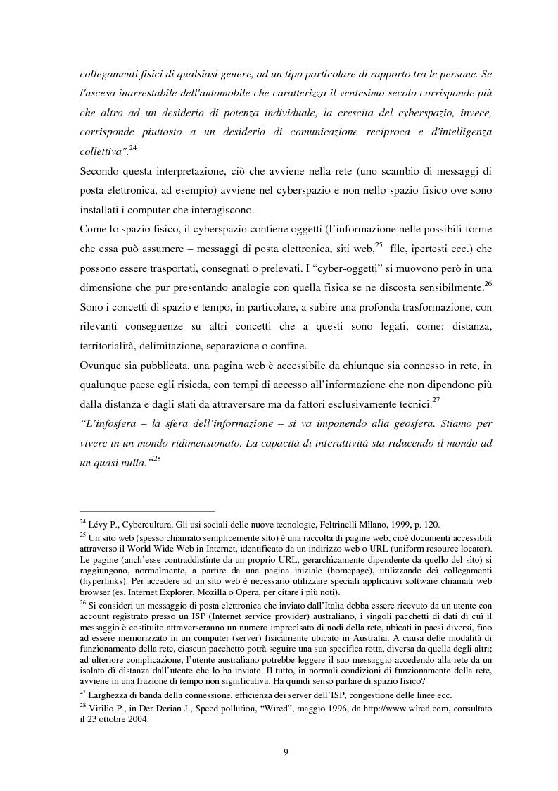 Anteprima della tesi: La sicurezza del cyberspazio: analisi e considerazioni, Pagina 9