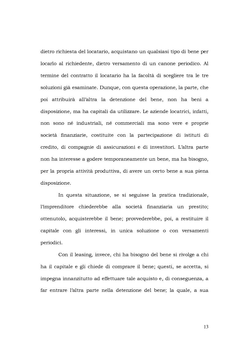 Anteprima della tesi: Il leasing in agricoltura, Pagina 10