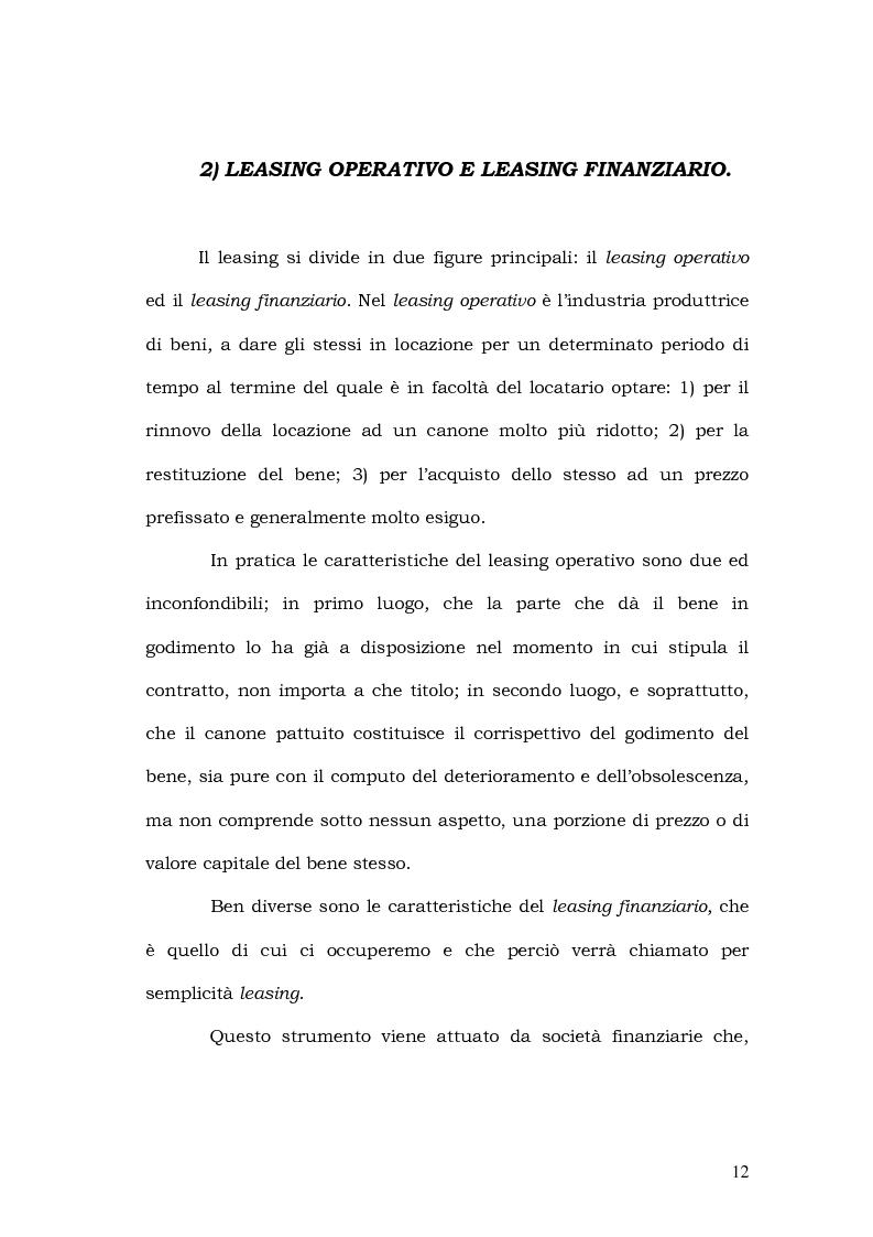 Anteprima della tesi: Il leasing in agricoltura, Pagina 9
