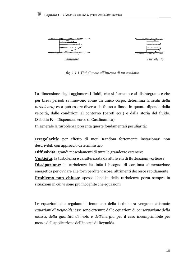 Anteprima della tesi: Studio sperimentale del campo di velocità in uscita da un getto turbolento, Pagina 2