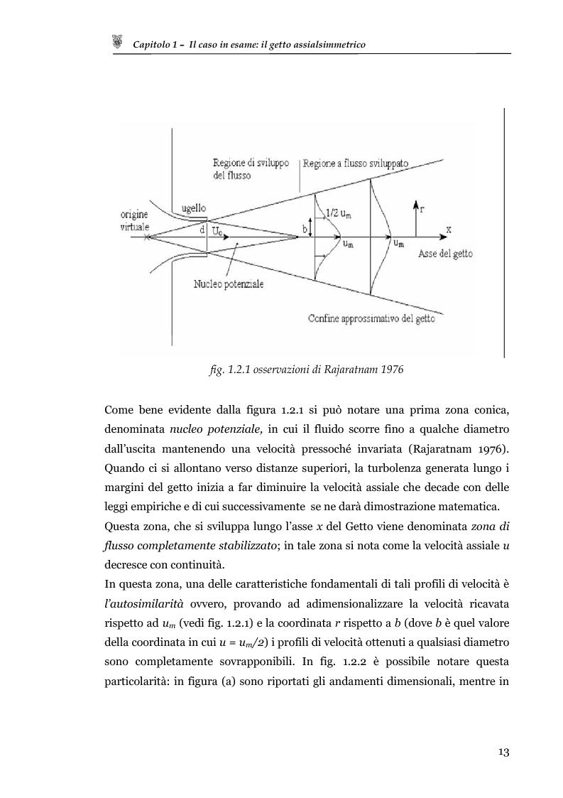 Anteprima della tesi: Studio sperimentale del campo di velocità in uscita da un getto turbolento, Pagina 5